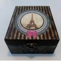 Caja madera decorativa Torre Eiffel.