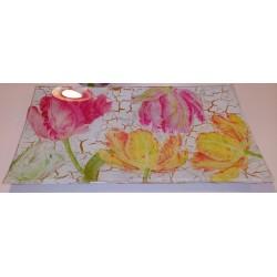 Bandeja cristal Tulipanes 1.