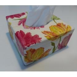 Caja pañuelos Tulipanes.
