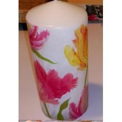 Vela artesal Tulipanes.