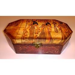 Bonita caja de madera decorada con Torre Eiffel.