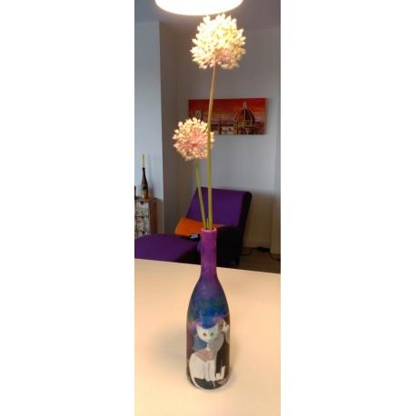botella decorativa GATITOS