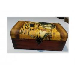 """Cofre mini baul """"El Beso"""" Klimt"""