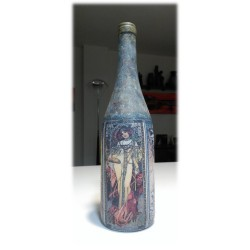 Botella decorativa Alphonse Mucha
