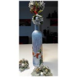 Botella decorativa Navidad Muñecos
