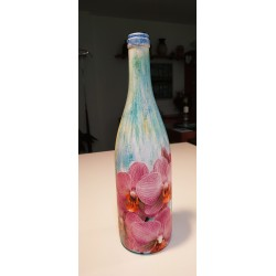Botella decorativa ORQUIDEAS ROSAS